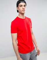 Asos Crew Neck T-Shirt With Pocket In Red