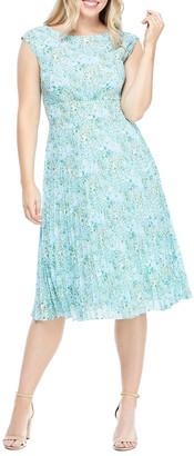 Maggy London Pleated Sunburst Dress