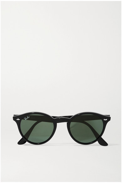 Ray-Ban Round-frame Acetate Sunglasses - Black