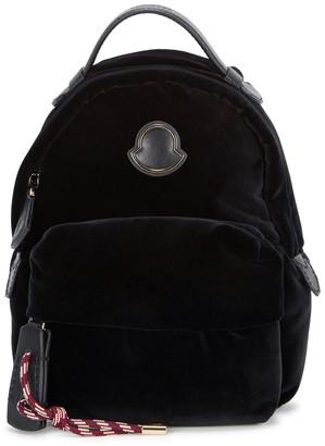 Moncler Black velvet backpack
