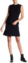 Catherine Malandrino Pleated Hem Mini Skirt