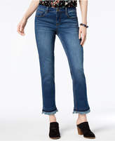 Style&Co. Style & Co Frayed Slim-Leg Jeans, Created for Macy's