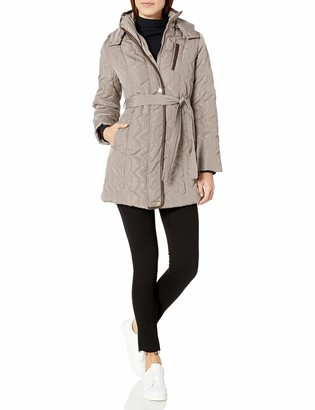 Big Chill Women's Memory Belted Long Puffer