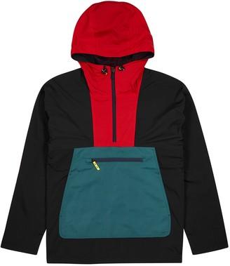 Paul Smith Colour-block half-zip nylon jacket