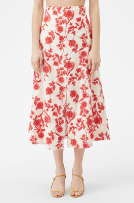 Rebecca Taylor Scarlet Embroidered Skirt