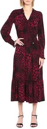 MICHAEL Michael Kors Ellip Printed Long-Sleeve Dress