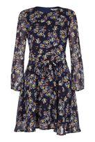 Yumi Retro Floral Print Dress