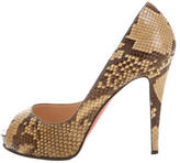 Christian Louboutin Snakeskin Very Prive Pumps