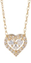Candela 14K Yellow Gold Swarovski Crystal Accented CZ Heart Necklace