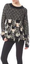 Nicole Sabbattini Black White Pullover