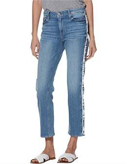 Paige Noella Straight Jean With Frayed Side Seam