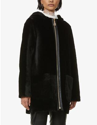 Sandro Jaky reversible shearling coat