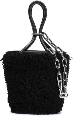 Alexander Wang Leather-trimmed Fringed Suede Bucket Bag