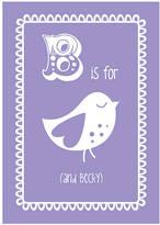 Hullaballoo Personalised Child's Bird Print