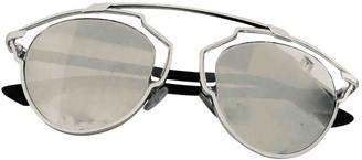 Christian Dior So Real Silver Metal Sunglasses