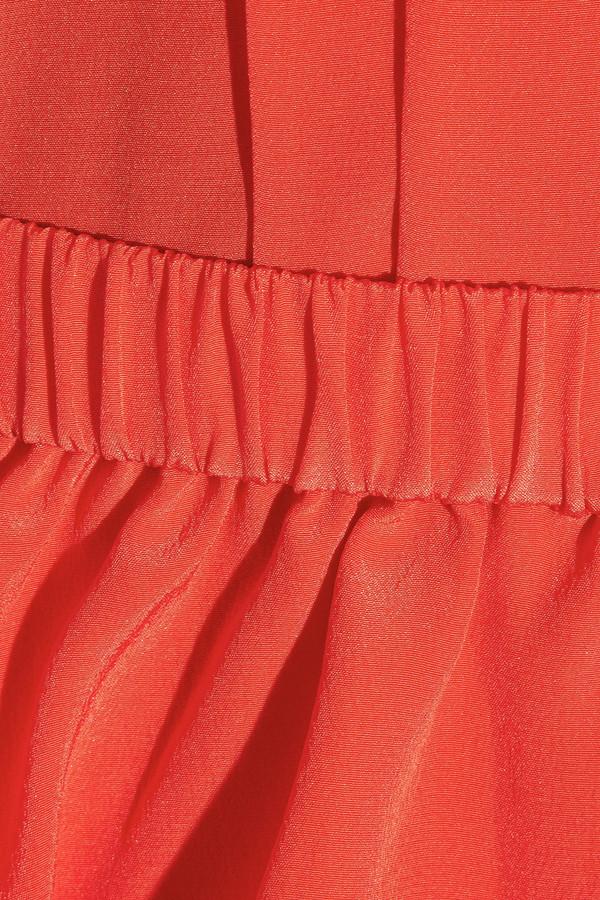 Miu Miu Detachable peplum silk dress