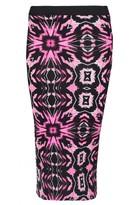 Select Fashion Fashion Womens Pink Fuchsia Tie Dye Midi Skirt - size 10
