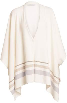 Fabiana Filippi Virgin Wool, Silk & Cashmere Sweater Cape