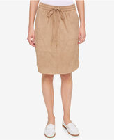 Tommy Hilfiger Faux-Suede Drawstring Skirt, Only at Macy's