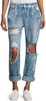 Tularosa Taylor Floral-Print Boyfriend Jeans, Blue