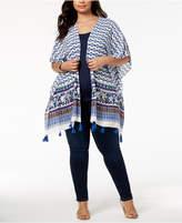 Say What Trendy Plus Size Printed Kimono
