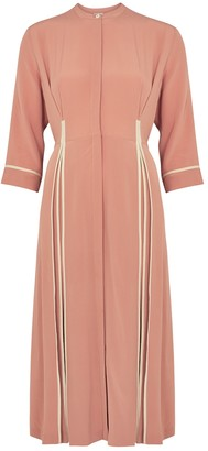 BODICE Pink Pleated Silk Dress