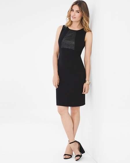Ponte Faux-Leather Dress