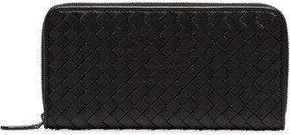 Bottega Veneta Intrecciato Zip Around Leather Wallet