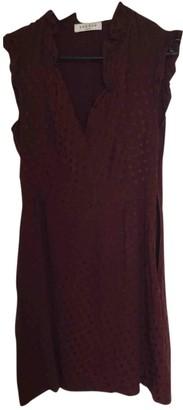 Sandro Burgundy Viscose Dresses