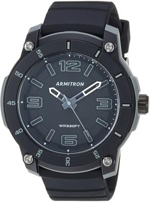 Armitron Sport Men's 20/5304BLK Black Silicone Strap Watch