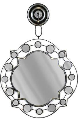 Sagebrook Home Hanging Silver Moroccan Mirror 19.25In