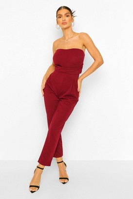 boohoo Bandeau Tailored Woven Slim Fit Jumpsuit