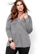 Addition Elle L&L Hoodie with Deep V Neck