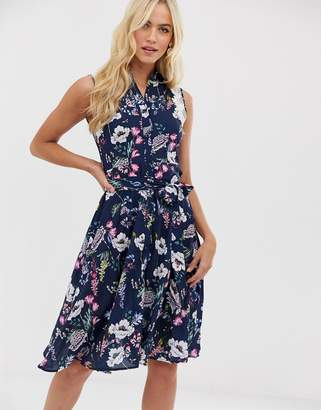 C By Cubic C by Cubic sleeveless midi dress-Navy