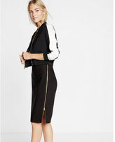 Express high waisted side zipper midi pencil skirt