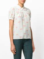 Miu Miu polka-dot bow blouse