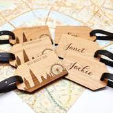 Maria Allen Boutique Pair Of Personalised Cityscape Luggage Tags