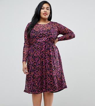 Junarose sheer leopard print midi dress