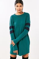 Truly Madly Deeply Oversized Varsity Stripe T-Shirt Dress
