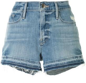 Frame Raw Hem Denim Shorts