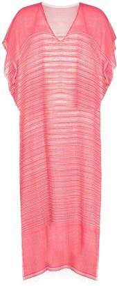 Lemlem Wubet stripe-pattern kaftan dress