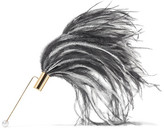 Hillier Bartley - Gold-tone, Feather And Swarovski Faux Pearl Brooch - One size
