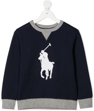 Ralph Lauren Kids Embroidered Logo Sweatshirt