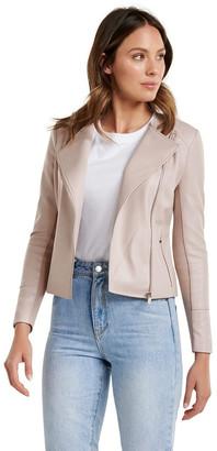 Forever New Nina Collarless Biker Jacket