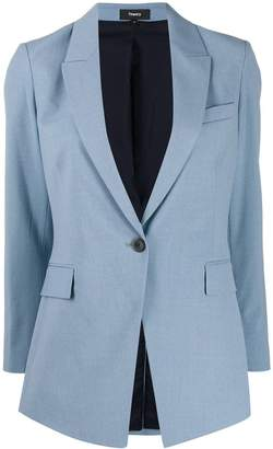 Theory long single-breasted blazer