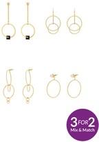 Very 4pk Hoop Detail Earrings