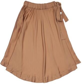 Viscose Satin Long Skirt