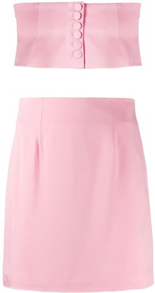 FEDERICA TOSI Bandeau Top & Skirt Co-Ord