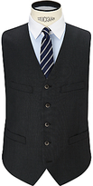 Hackett London 110s Sharkskin Super Wool Waistcoat, Charcoal