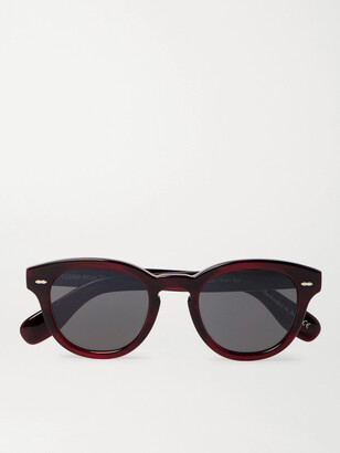 Oliver Peoples Cary Grant Sun Round-Frame Acetate Sunglasses - Men - Burgundy